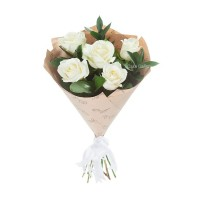 Cute White Rose Bouquet