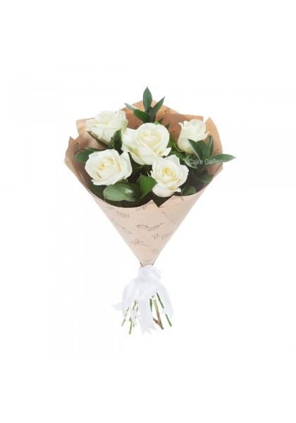 Cute White Rose Bouquet