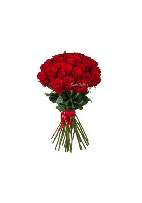 24 Red Rose Flower Bouquet