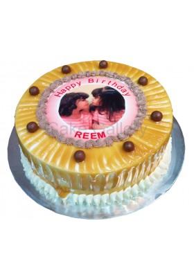carame photo cake