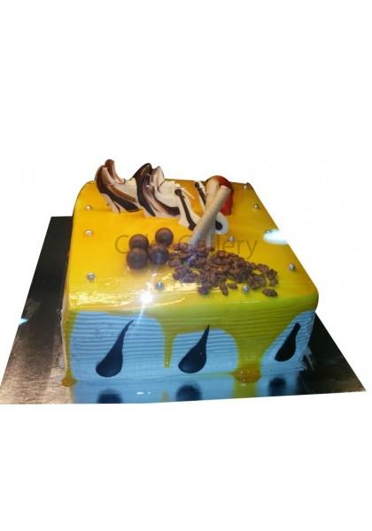 Yellow Square Cake