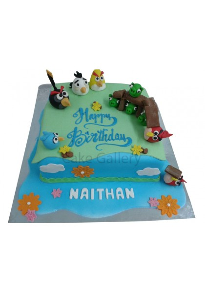 Angry Bird Theme Cake