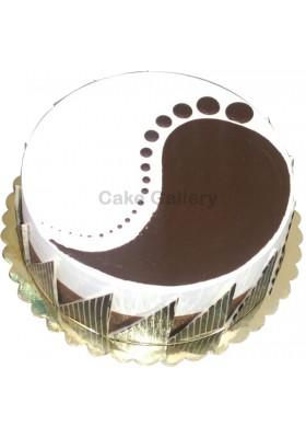 Vanilla and chocolate mix cake