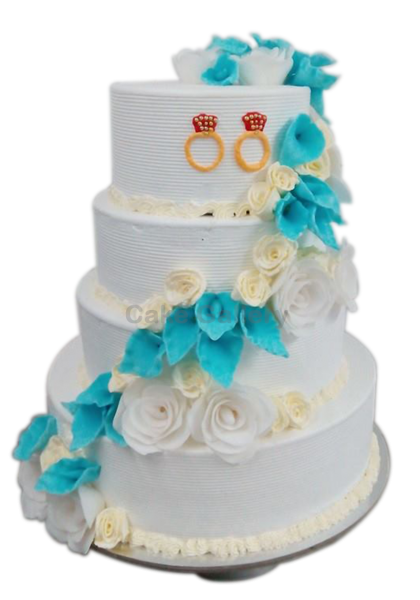 sweety wedding fiower cake