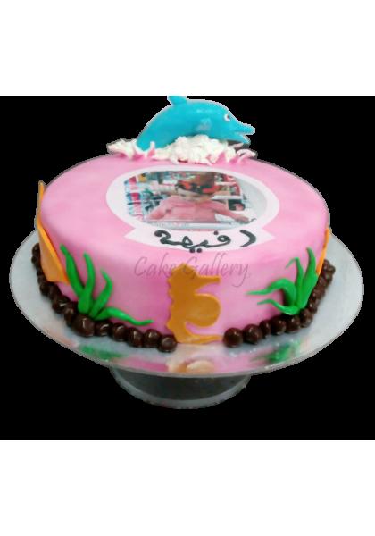 dolphin photo cake