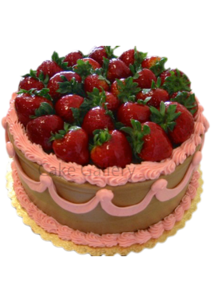 strawberry spreaded cake