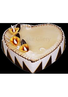 Heart Shape Cappuccino Cake