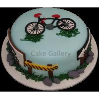 Bicycle Theme Cake