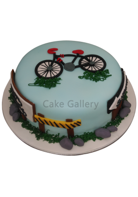 Bicycle Theme Cake