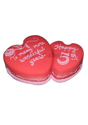 Two Hearts Cake