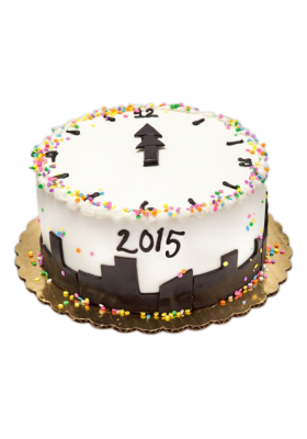 new year clock cake