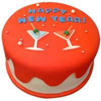 new year party cake