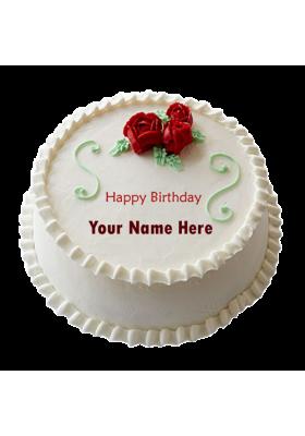 vanila three roses cake