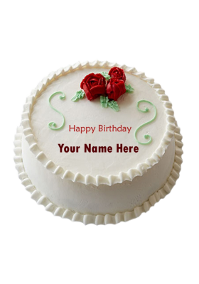 Vanilla Roses Cake