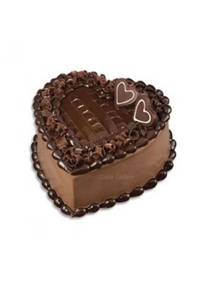 Choco Filled Heart Shape Cake