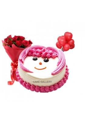 Smiley Cake Combo