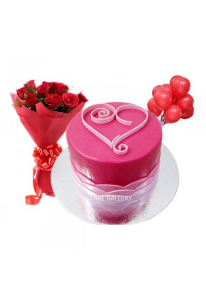 Romantic Cake Combo