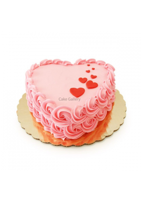 Heart Shape rose cake