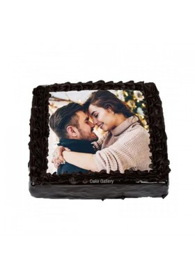 Chocolate Square Photo Cake